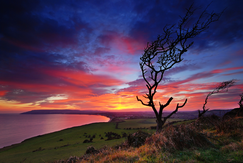 z1176 Sunset, Culver Down - Sandown, Shanklin, Luccombe and Wroxall