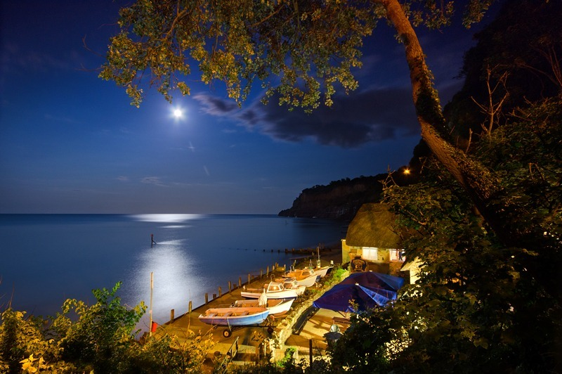 z2219 Shanklin Chine by Moonlight - Sandown, Shanklin, Luccombe and Wroxall