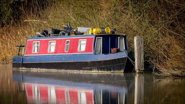 Moored Up For Winter - Transportation
