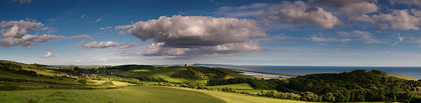ABBOTSBURY from THE HILL - Dorset and Hampshire