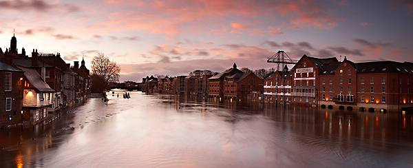 ..from Ouse Bridge - Landscapes