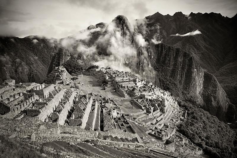 Machu Picchu landscape photograph, Peru