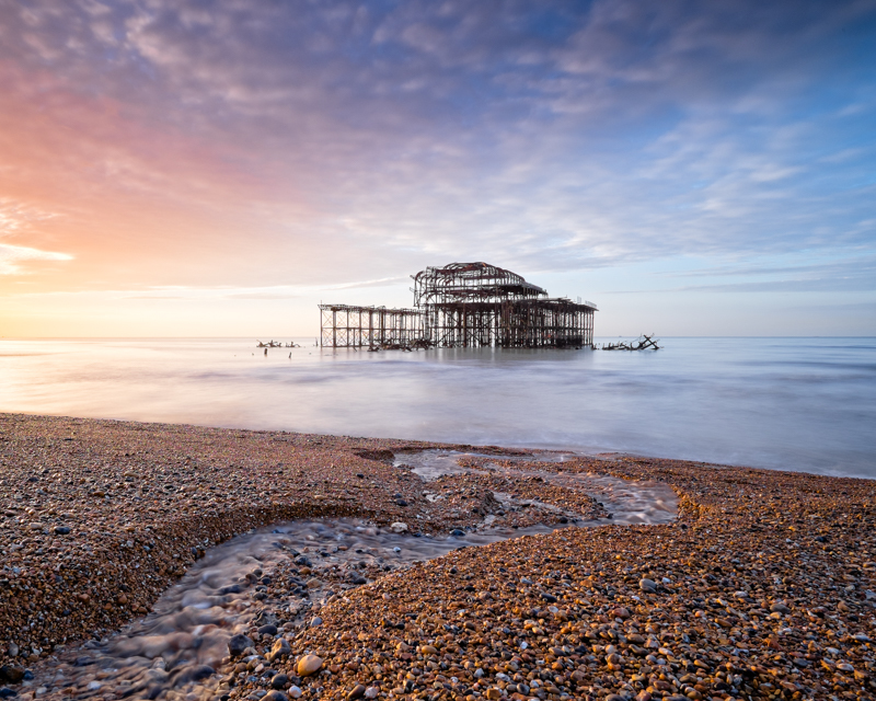 West Pier Sunrise - Seascape
