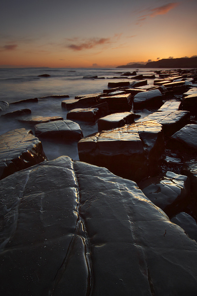 Kimmeridge Sunset - Hampshire, Dorset and Devon