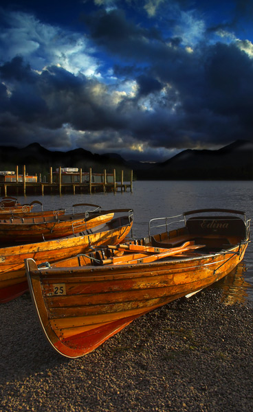Moored Boats - The Lake District