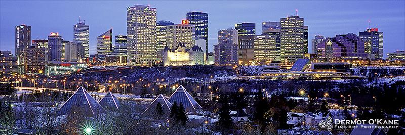 Edmonton Skyline - Panoramic Horizontal Images