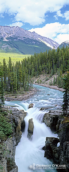 Sunwapta Falls - Panoramic Vertical Images