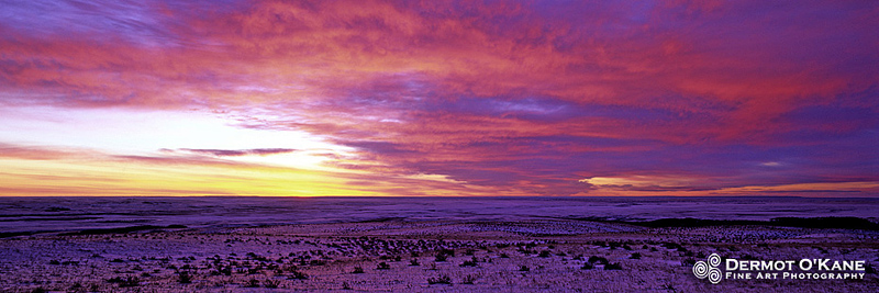 Prairie Sunrise - Panoramic Horizontal Images