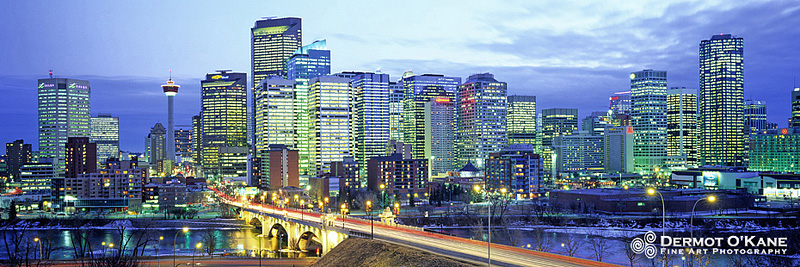 Calgary Twilight - Panoramic Horizontal Images