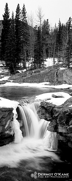 Elbow Falls - Panoramic Vertical Images