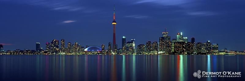 Toronto Blue - Panoramic Horizontal Images