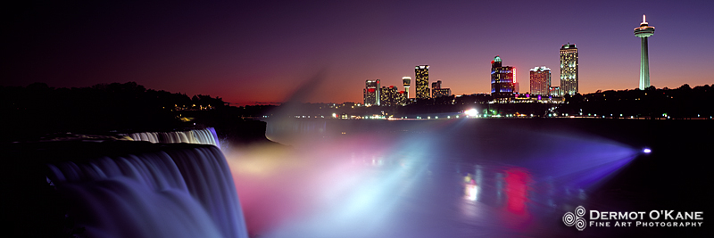 Niagara Falls Skyline - Panoramic Horizontal Images