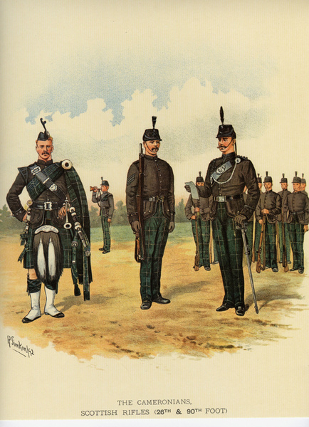Cameronians 11 - Old Scottish Regiments and Uniforms