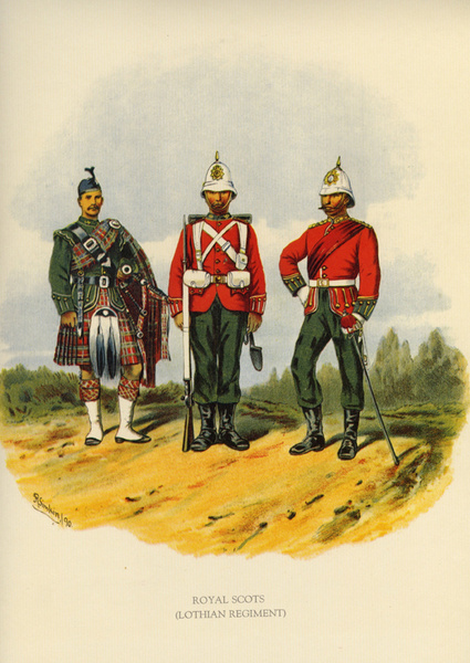 Royal Scots 8 - Old Scottish Regiments and Uniforms