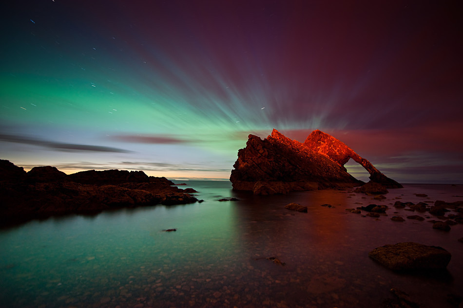 Bow Fiddle aurora - Aurora borealis in Scotland
