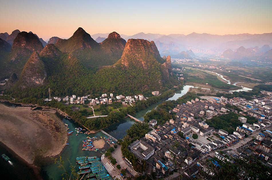 Xingping town - China, Guangxi Province