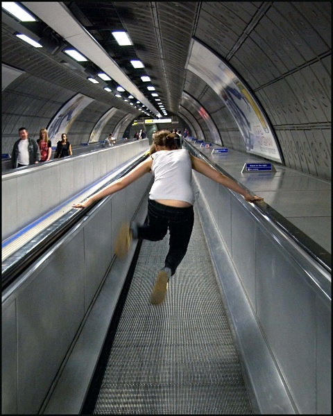 Fun on the Escalator - ARPS Images