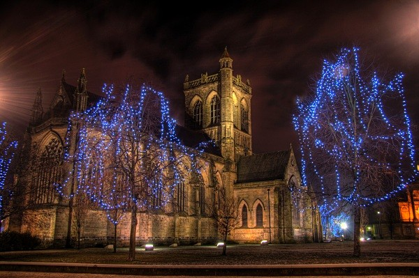 Paisley Abbey Night-Shot - Glasgow Gallery