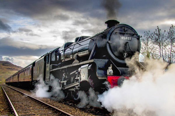Frank Santrian & 45407 at Arisaig (MG_3496) - The Golden Age of Steam