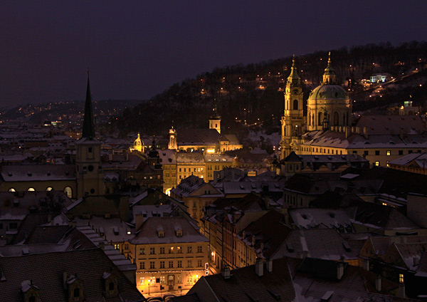 Mala Strana at night, Prague by Charlotte Brett LRPS
