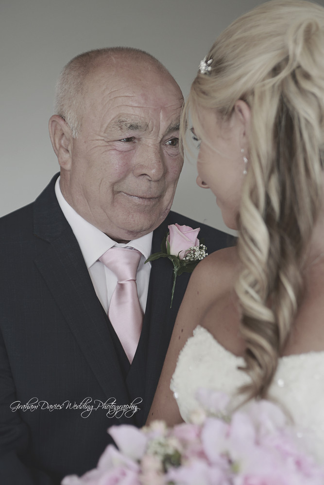 Miskin Manor Father of the Bride and his daughter - Wedding Photography at Miskin Manor