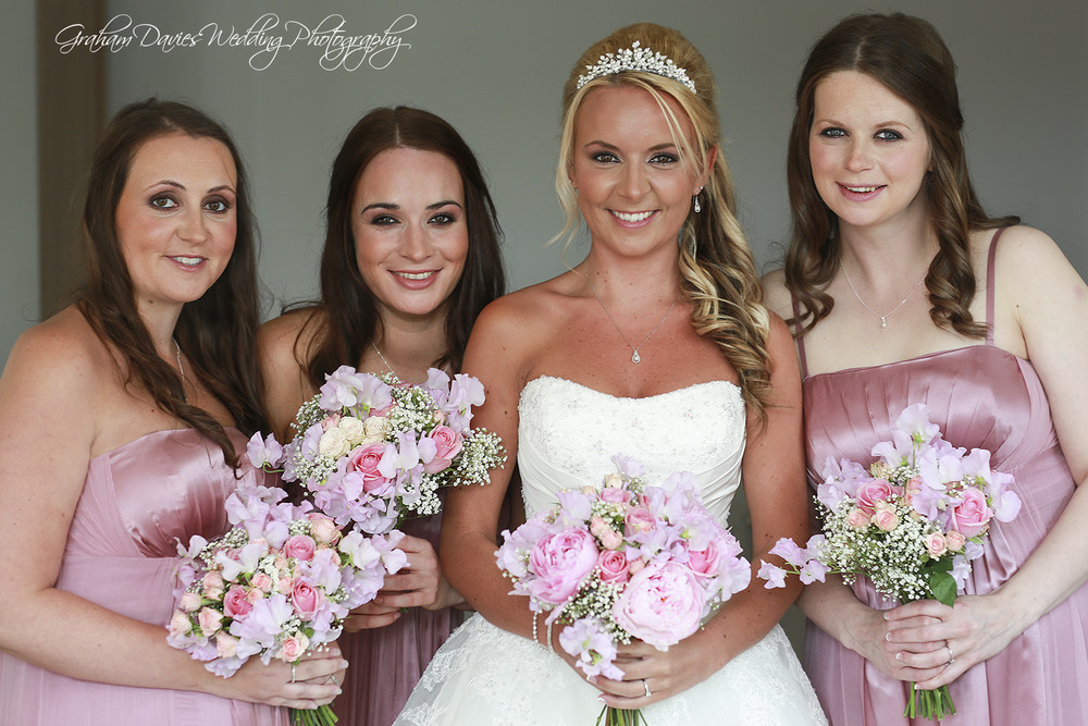 Miskin Manor Bride & bridesmaids - Wedding Photography at Miskin Manor