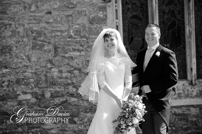 Bride & Groom at Wedding at St. Hilary - Wedding Photography at St. Hilary