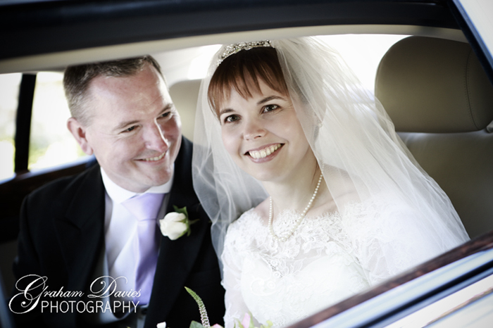 Bride & Groom in Wedding Car at St. Hilary - Wedding Photography at St. Hilary