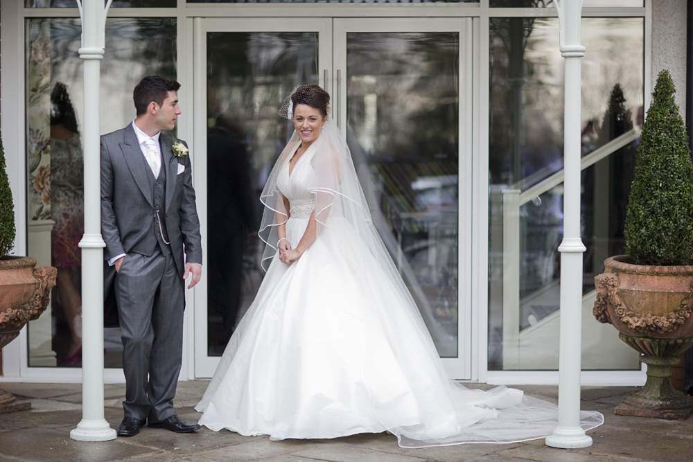 Bride & Groom at Coed y Mwstwr Hotel - Wedding Photography at Coed y Mwstwr Hotel