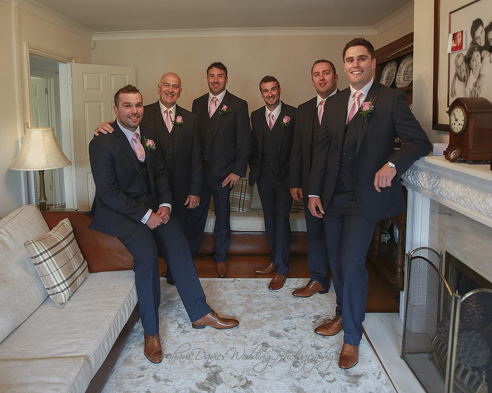 Miskin Manor Groom, Dad, Best Men & Ushers - Wedding Photography at Miskin Manor