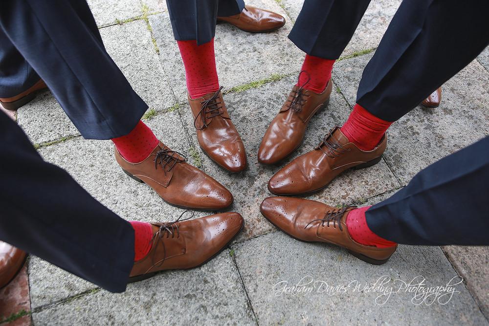 Miskin Manor Groom & Ushers Shoes - Wedding Photography at Miskin Manor