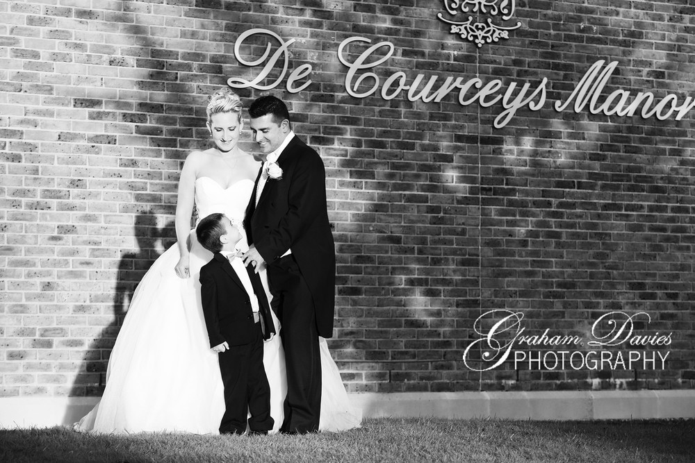 Bride & Groom at De Courceys, Cardiff - Wedding Photography at De Courceys, Cardiff
