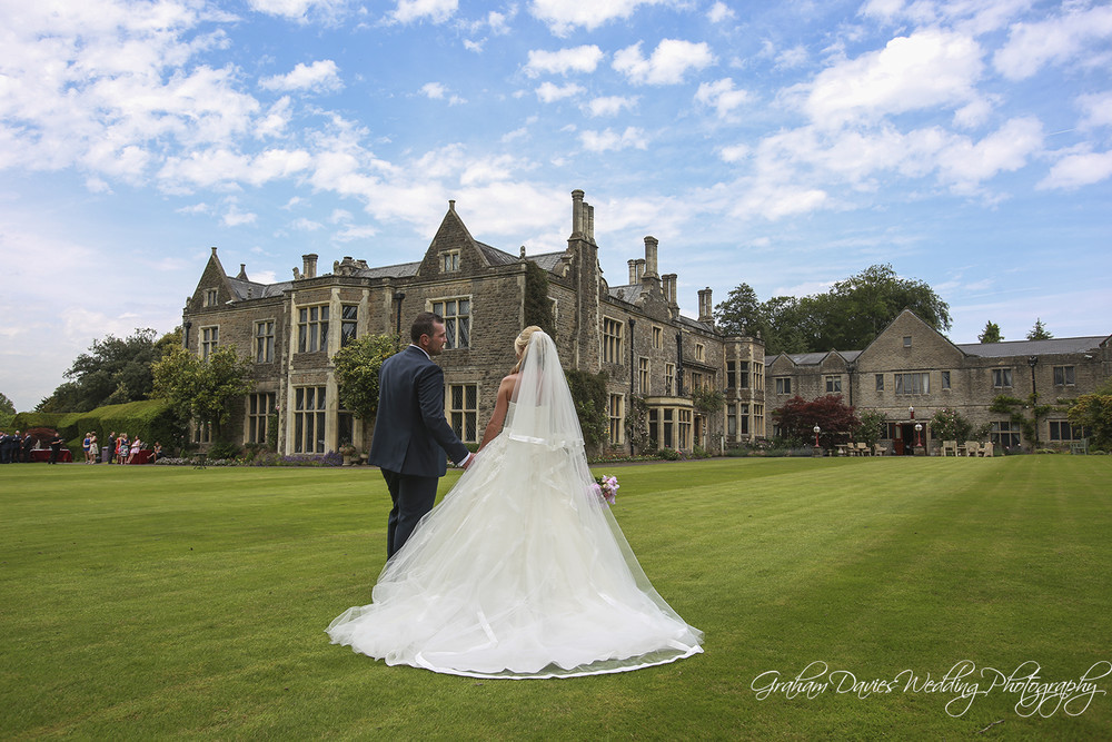 Miskin Manor Bride & Groom photo shoot - Wedding Photography at Miskin Manor