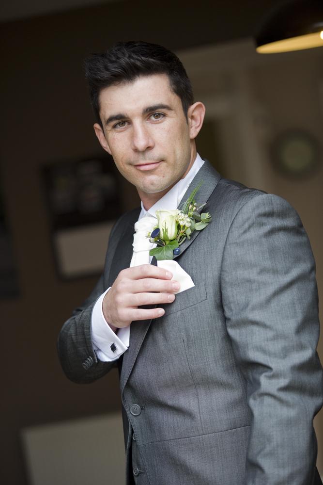 Groom gettingn ready at Coed y Mwstwr Hotel, Bridgend - Wedding Photography at Coed y Mwstwr Hotel
