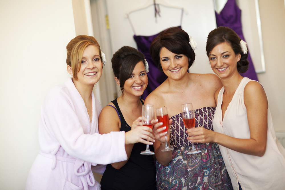 Bridesmaids at Bear Hotel, Cowbridge - Wedding Photography at The Bear Hotel, Cowbridge