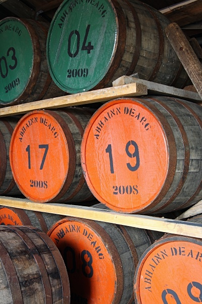 Casks of new spirit at Abhainn Dearg - Whisky
