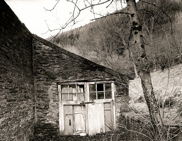 HAFOD (door rear of greenhouse), Pontrhydygroes, Ceredigion 2001 - CEREDIGION MANSIONS