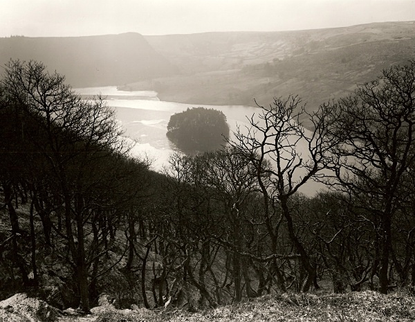 FROZEN PENYGARREG RESERVIOR, Elan Valley, Radnorshire 1994 - THE WELSH LANDSCAPE