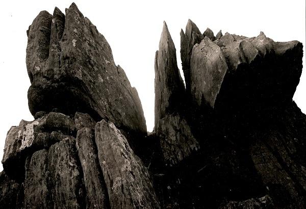ROCKS AT TEIFI POOLS, Ffair Rhos, Ceredigion 2003 - THE WELSH LANDSCAPE