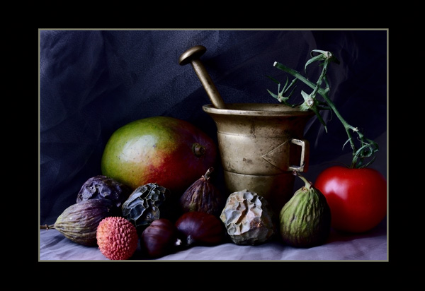 Figs and a Tomato - Still Life