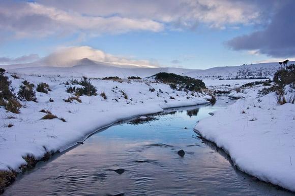 Pen Y Fan under Snow and Cloud - Bannau Brycheiniog / Brecon Beacons