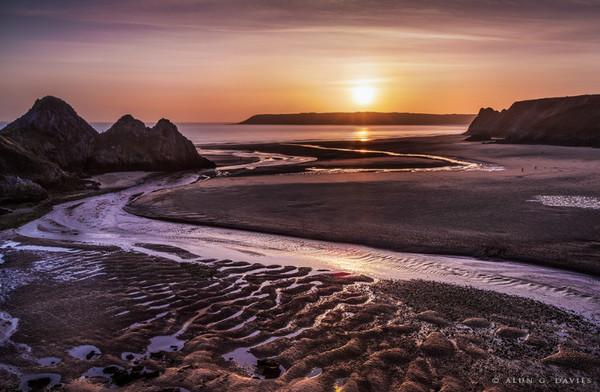 Three Cliffs - Arfordir De Cymru / S. Wales Coast