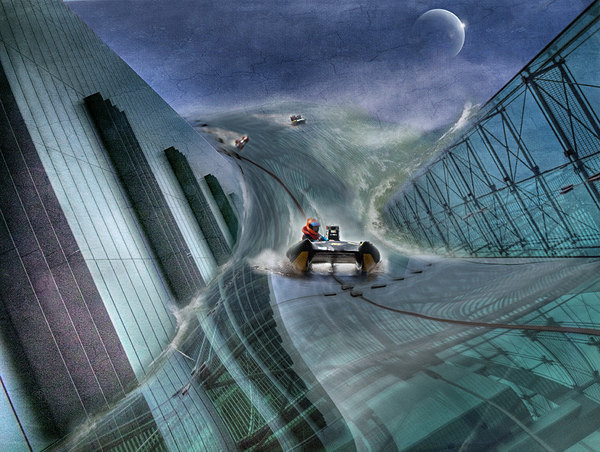 Downhill Power Boating. - Creative photography and Digital Arts