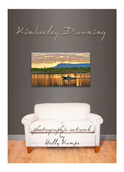 Kimberley Dawning - Artwork Displayed in a Room