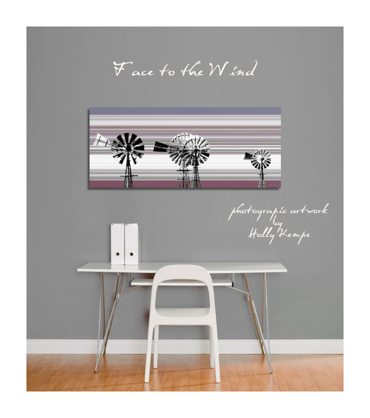 Face to the Wind - Artwork Displayed in a Room