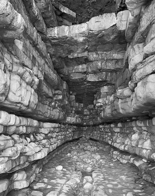 2460 - Into Sea Cave No1 - Glamorgan Coast near Llantwit Major - Glamorgan Coast