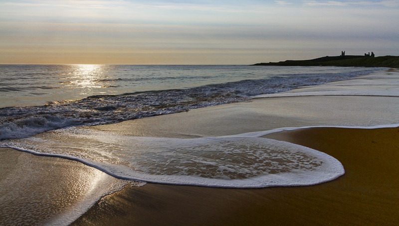 Dunstanburgh Beach Sunrise - Images from England