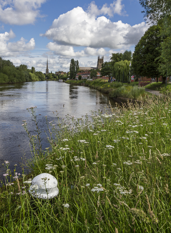River Severn at Worcester - Worcester Birmingham Canal