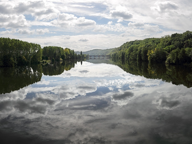 Reflections in the Dordogne River - Clouds & Skies