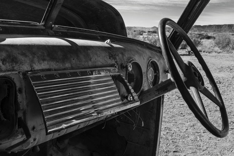 Chevy Dashboard at Solitaire - Namibia - 2014